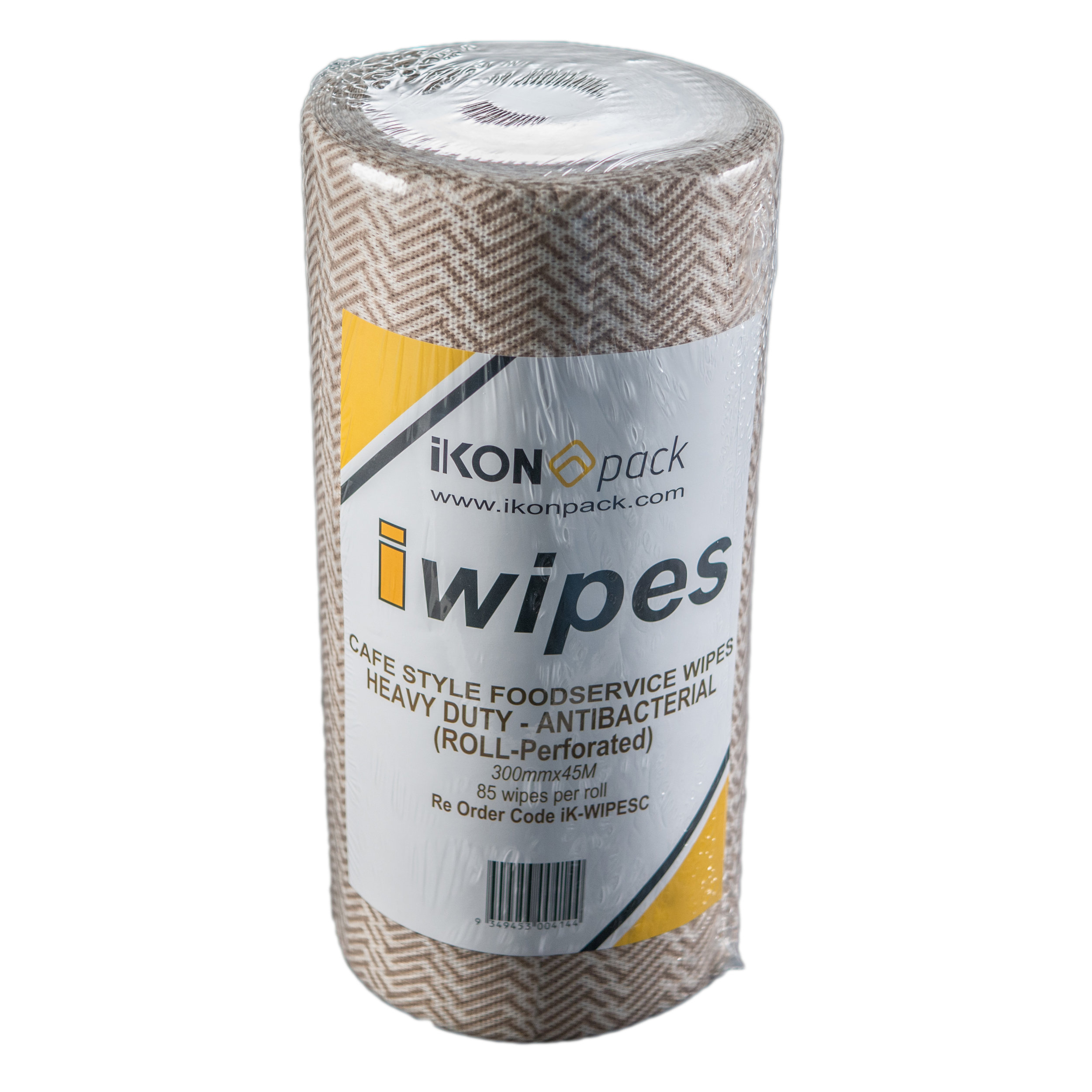 iK-WIPESC CAFÉ-STYLE FOODSERVICE WIPES HEAVY DUTY          (ROLL-Perforated)   300mmx45m ON A ROLL (85 Wipes / roll) PERF.4 rolls per box