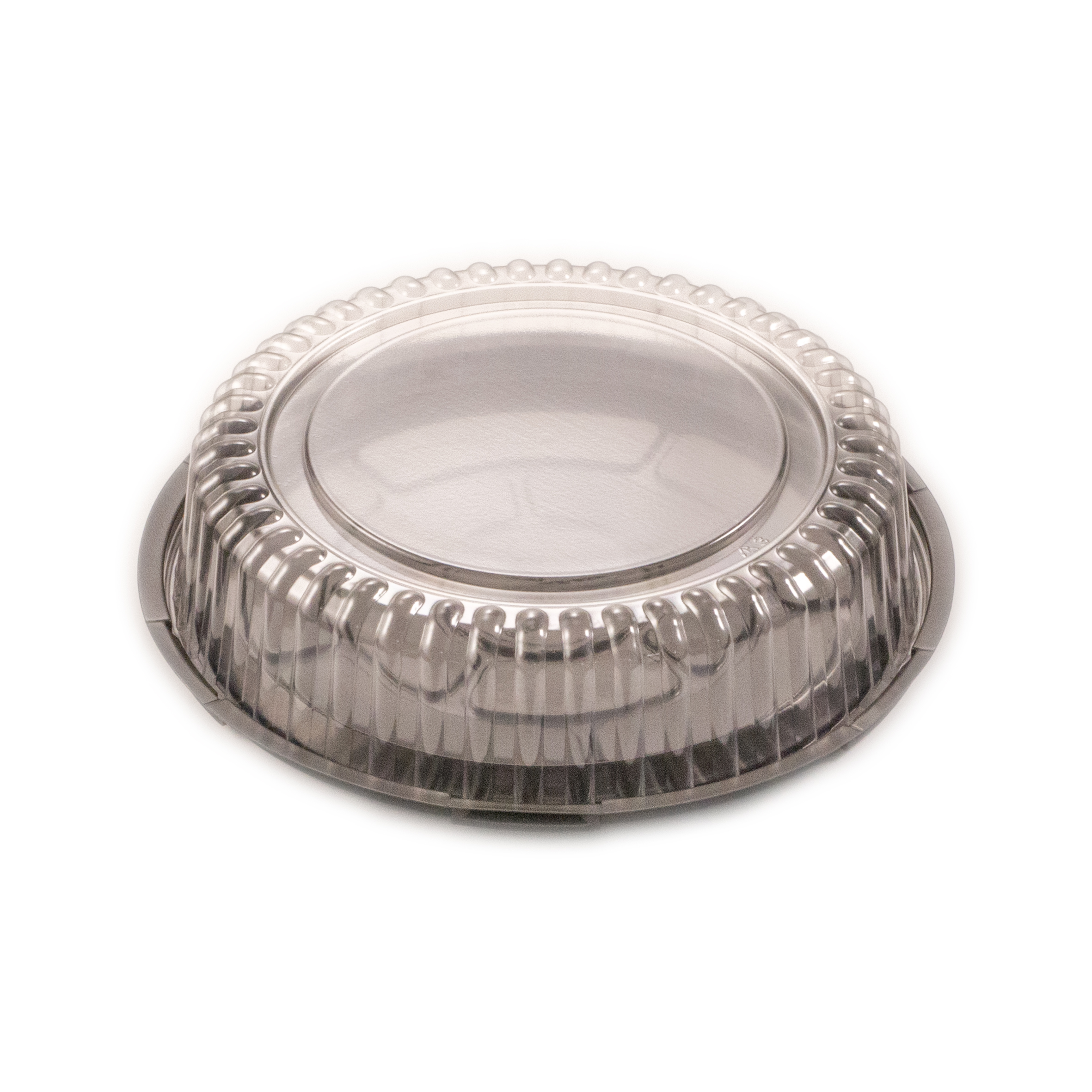 iK-CAKE-SML      CLEAR CAKE DOME AND BLACK BASE SMALL    216x50mm 50 per sleeve 100 per carto