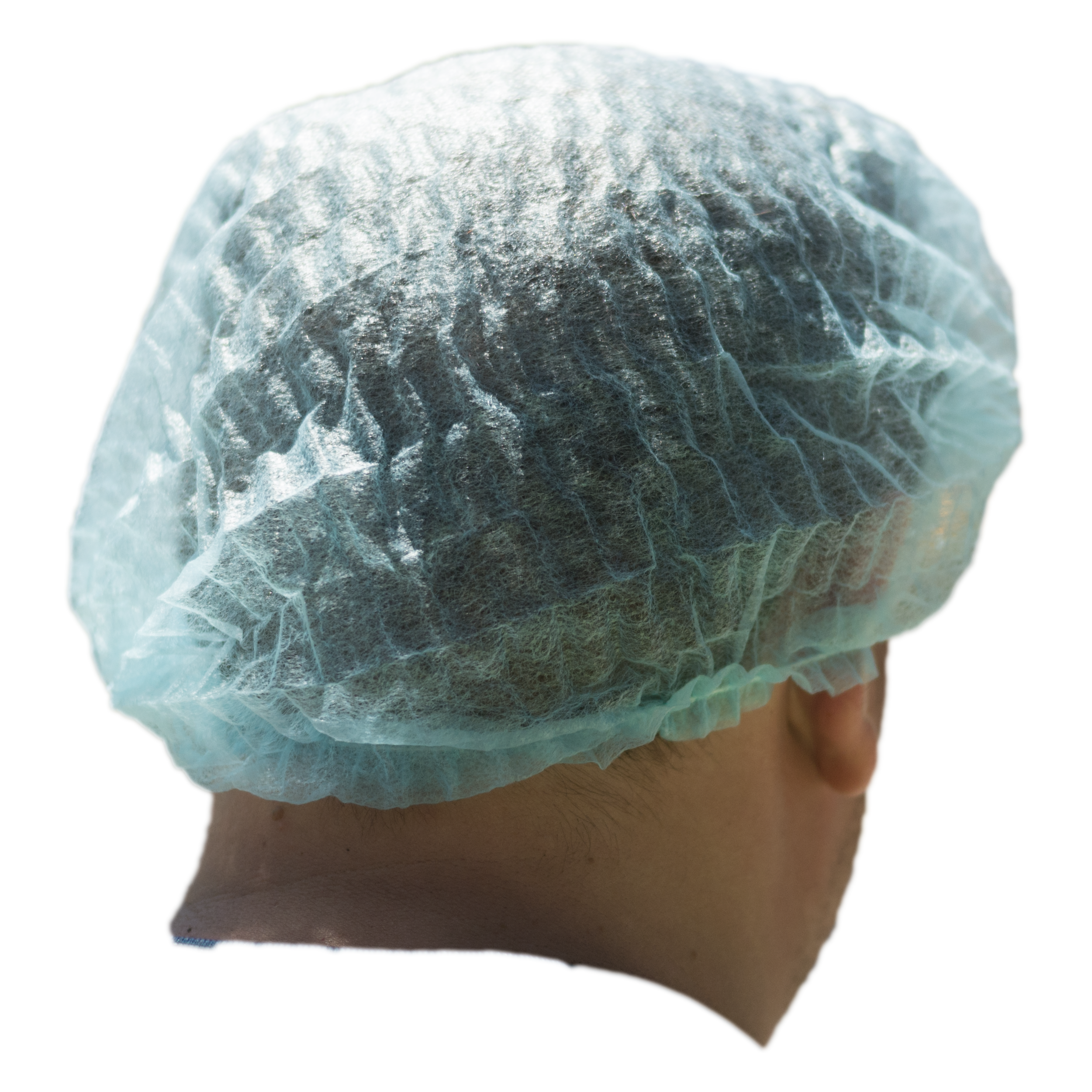 """iK-HNETB      Disposable Hair nets Bouffant ( cover) 21 """"inches     White Hair net crimped Fits all 10x 100 (1000) per carton"""