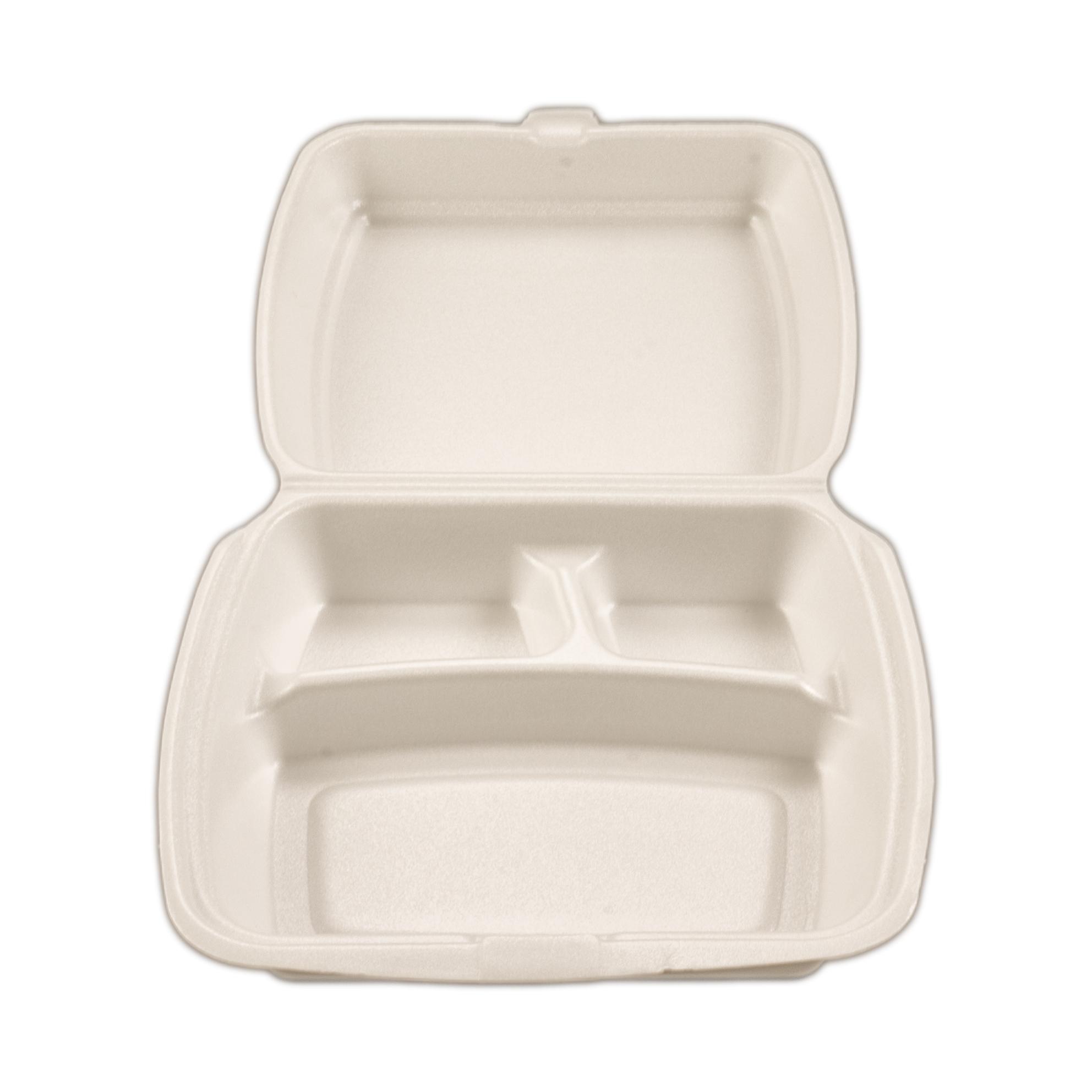 iK-FC5      Foam Clam Dinner Pack 3 Compartment    233 x 483 x 42mm 100 per slv 200 per carton
