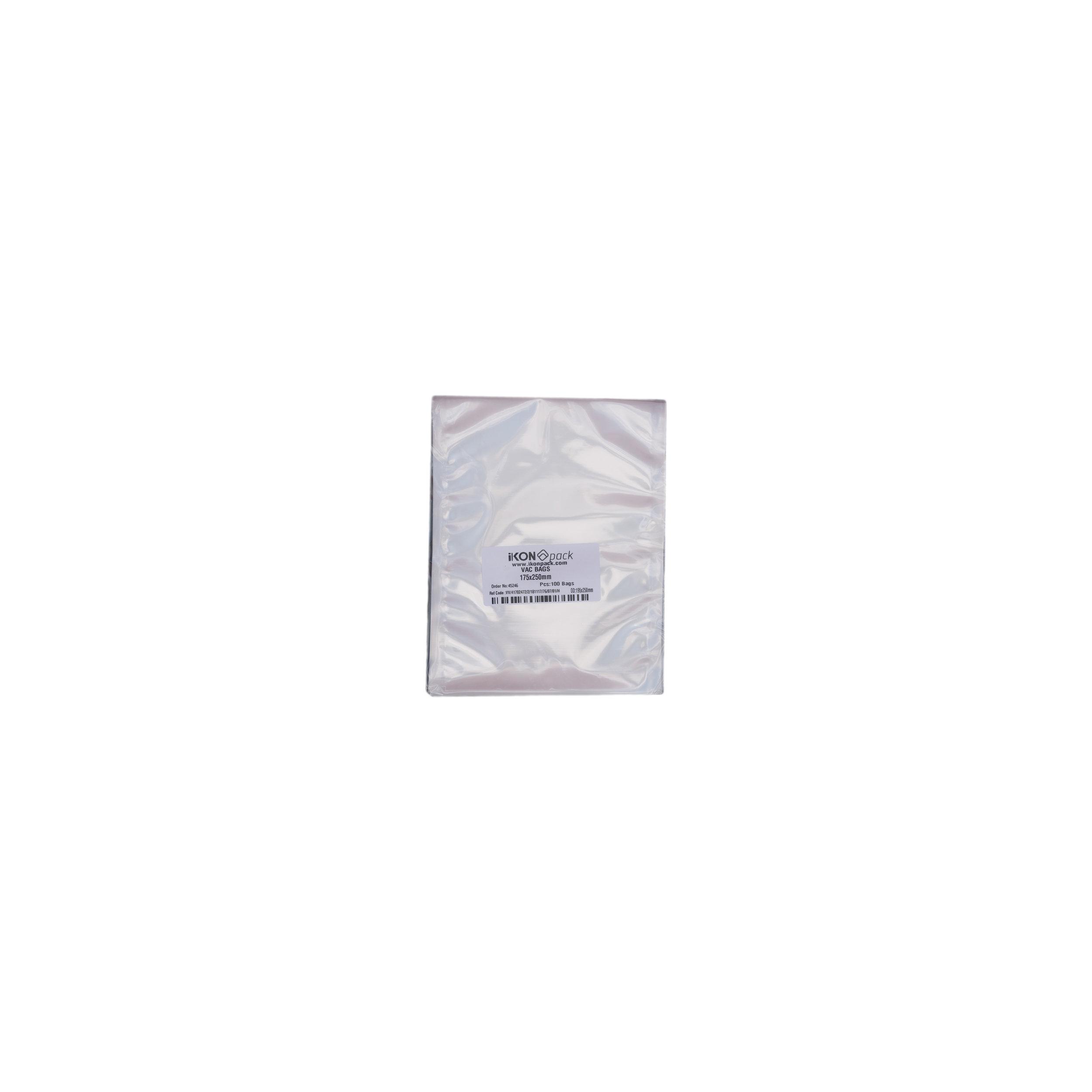 iK-VAC1725      VACUUM POUCH 70 MICRON 175X250    100 per slv 1000 per carton