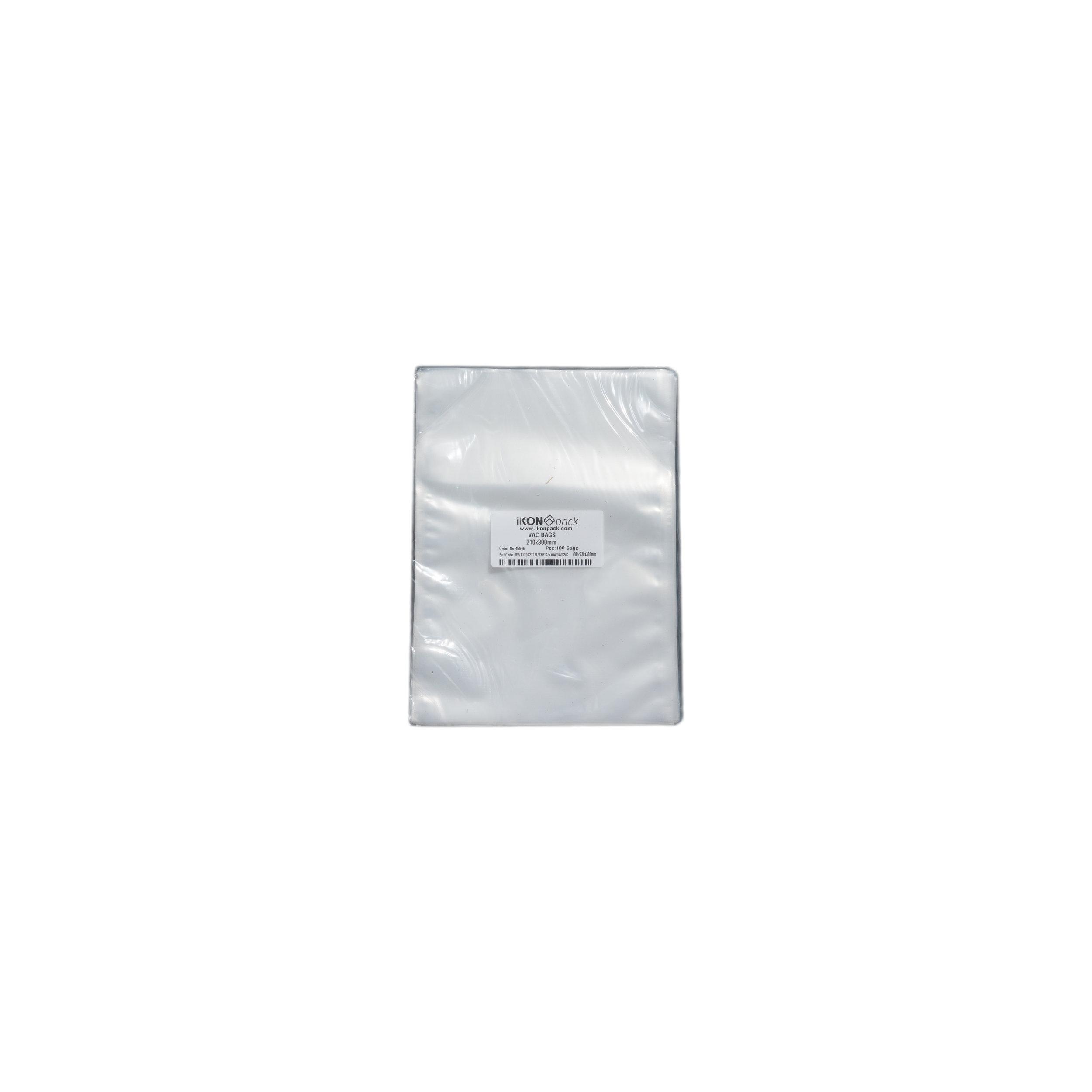 iK-VAC2130      VACUUM POUCH 70 MICRON 210X300    100 per slv 1000 per carton