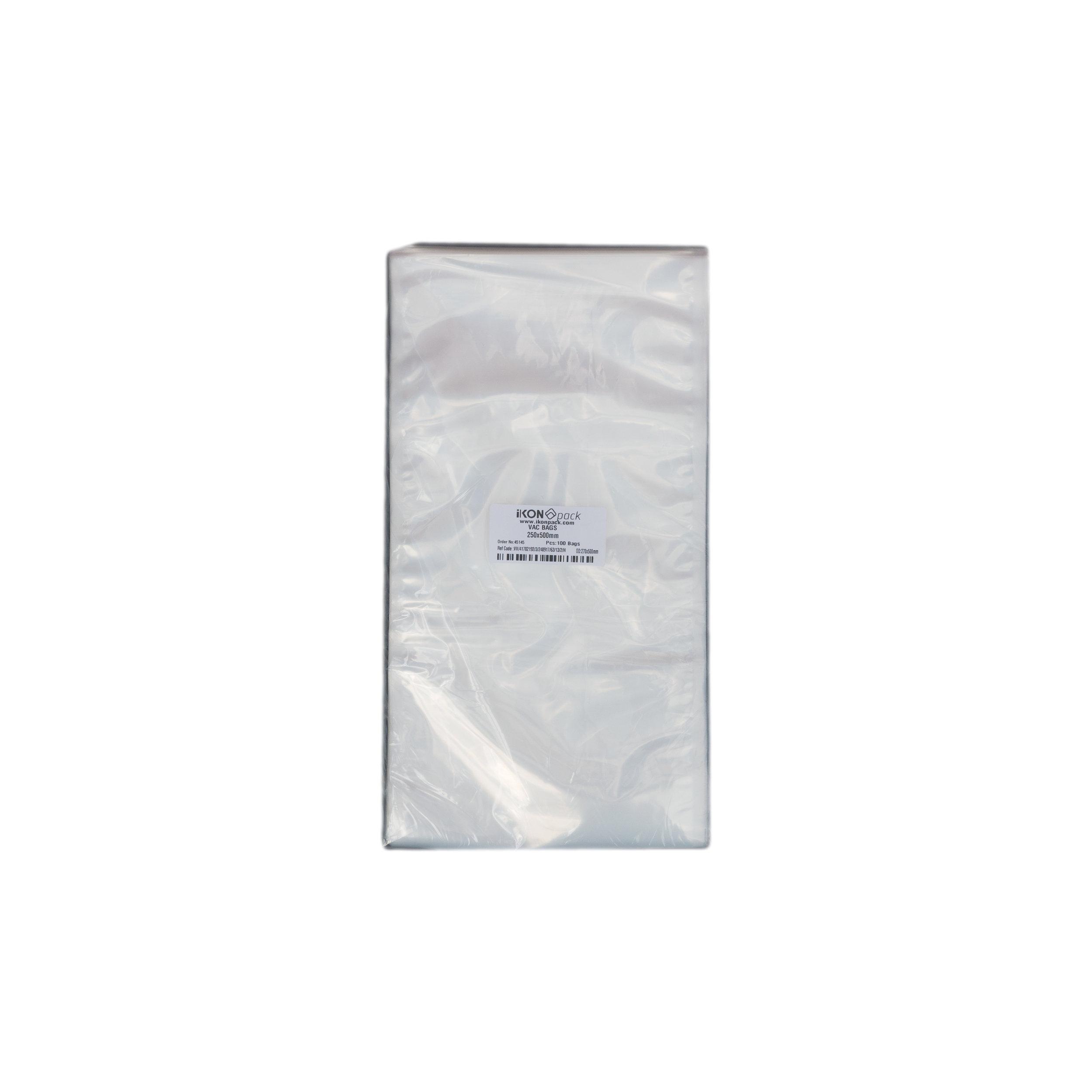 iK-VAC2550      VACUUM POUCH 70 MICRON 250X500    100 per slv 1000 per carton