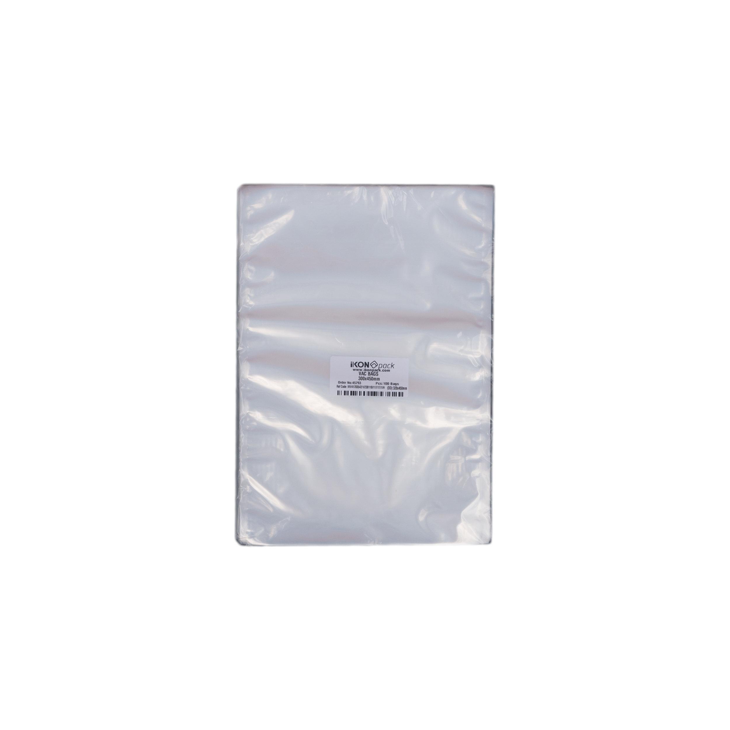 iK-VAC3045      VACUUM POUCH 70 MICRON 300X450    100 per slv 500 per carton