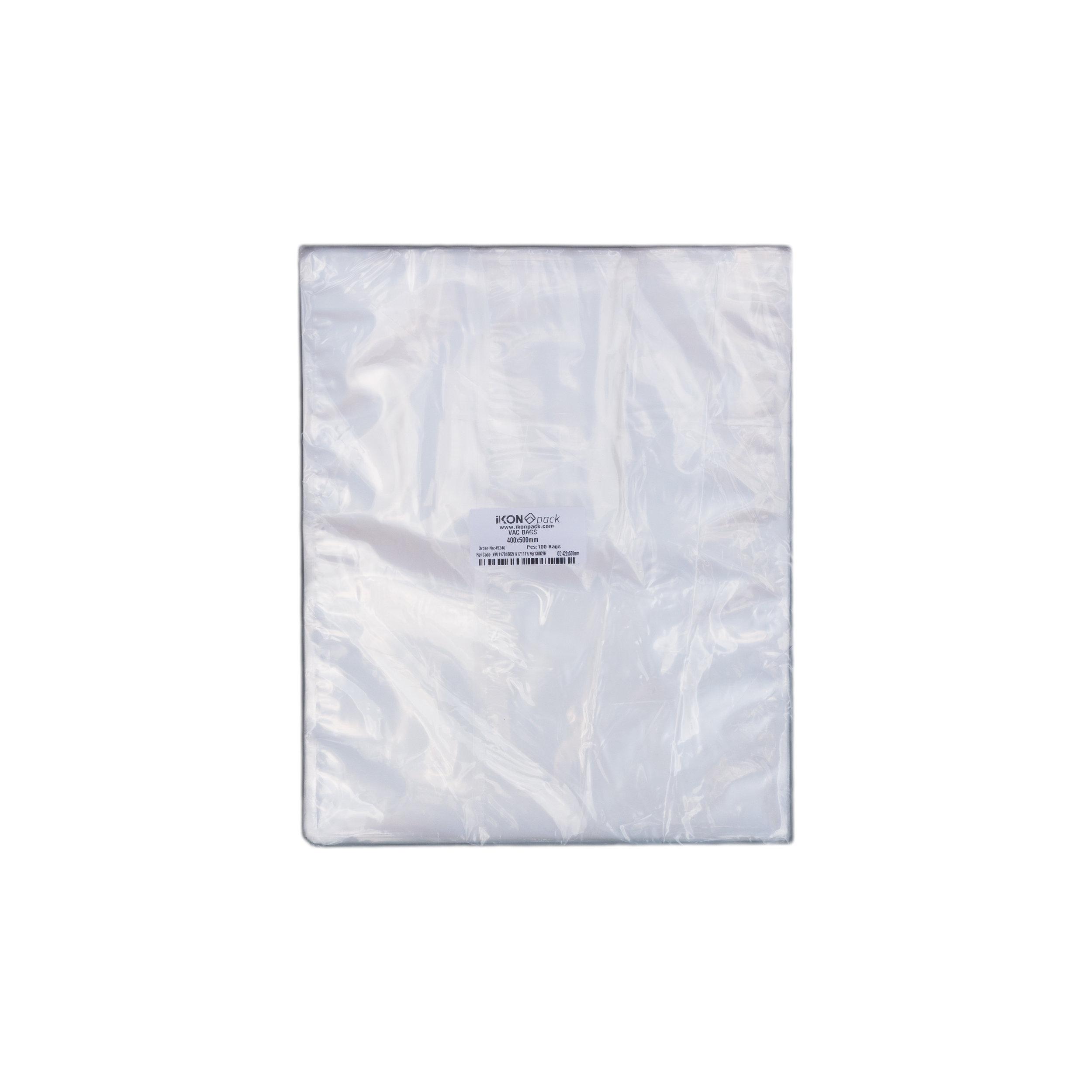 iK-VAC4050      VACUUM POUCH 70 MICRON 400X500    100 per slv 500 per carton