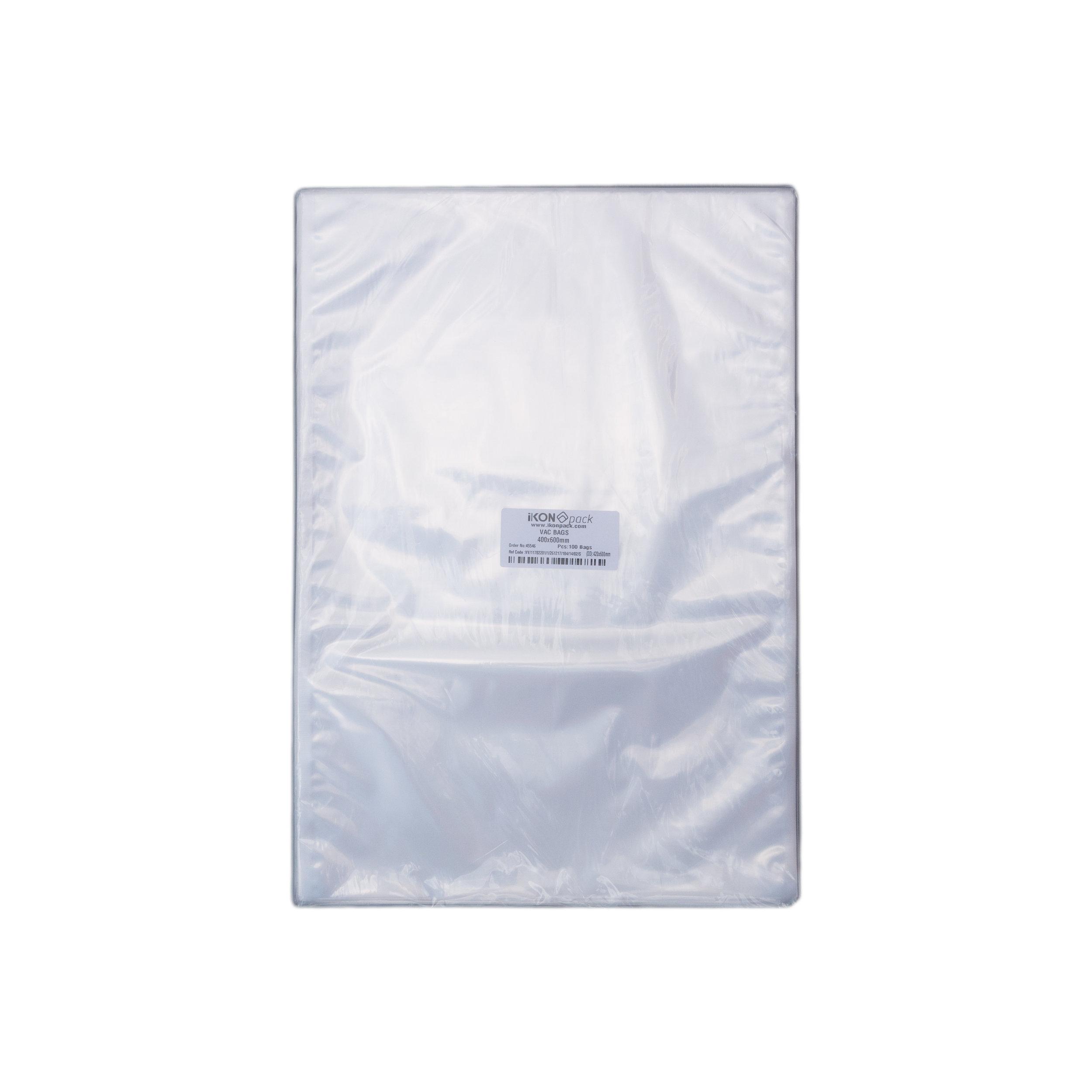 iK-VAC4060      VACUUM POUCH 70 MICRON 400X600    100 per slv 500 per carton