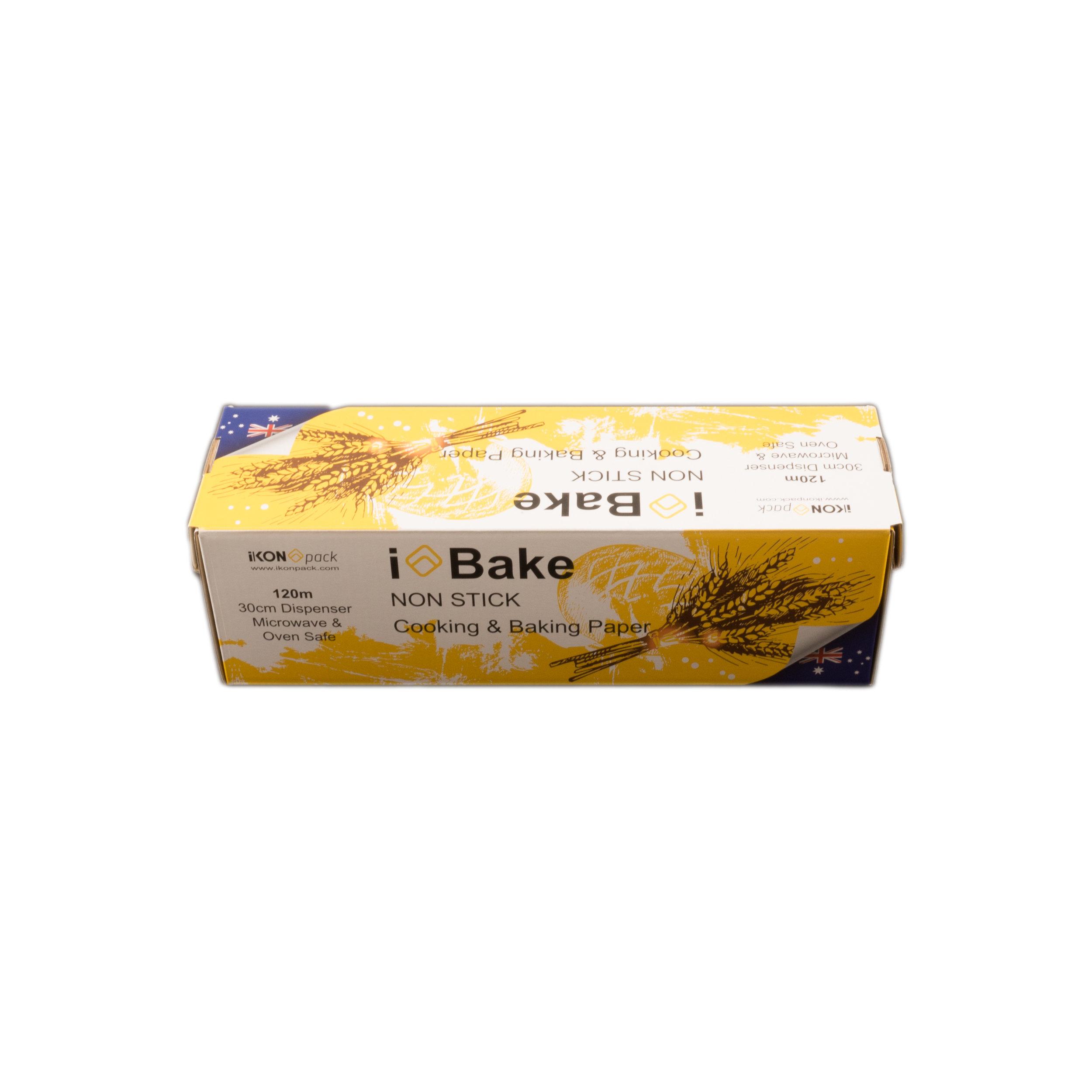 iK-BAKE 30      iBAKE NON STICK - COOKING & BAKING PAPER    30cm x 120m Roll 4 rolls per carton