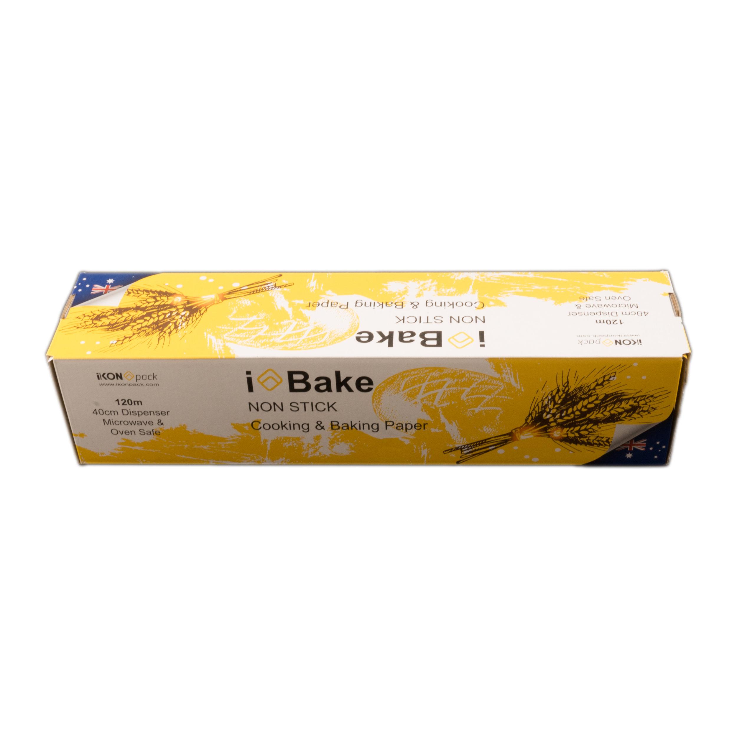 iK-BAKE 40      iBAKE NON STICK - COOKING & BAKING PAPER    40cm x 120m Roll 4 rolls per carton