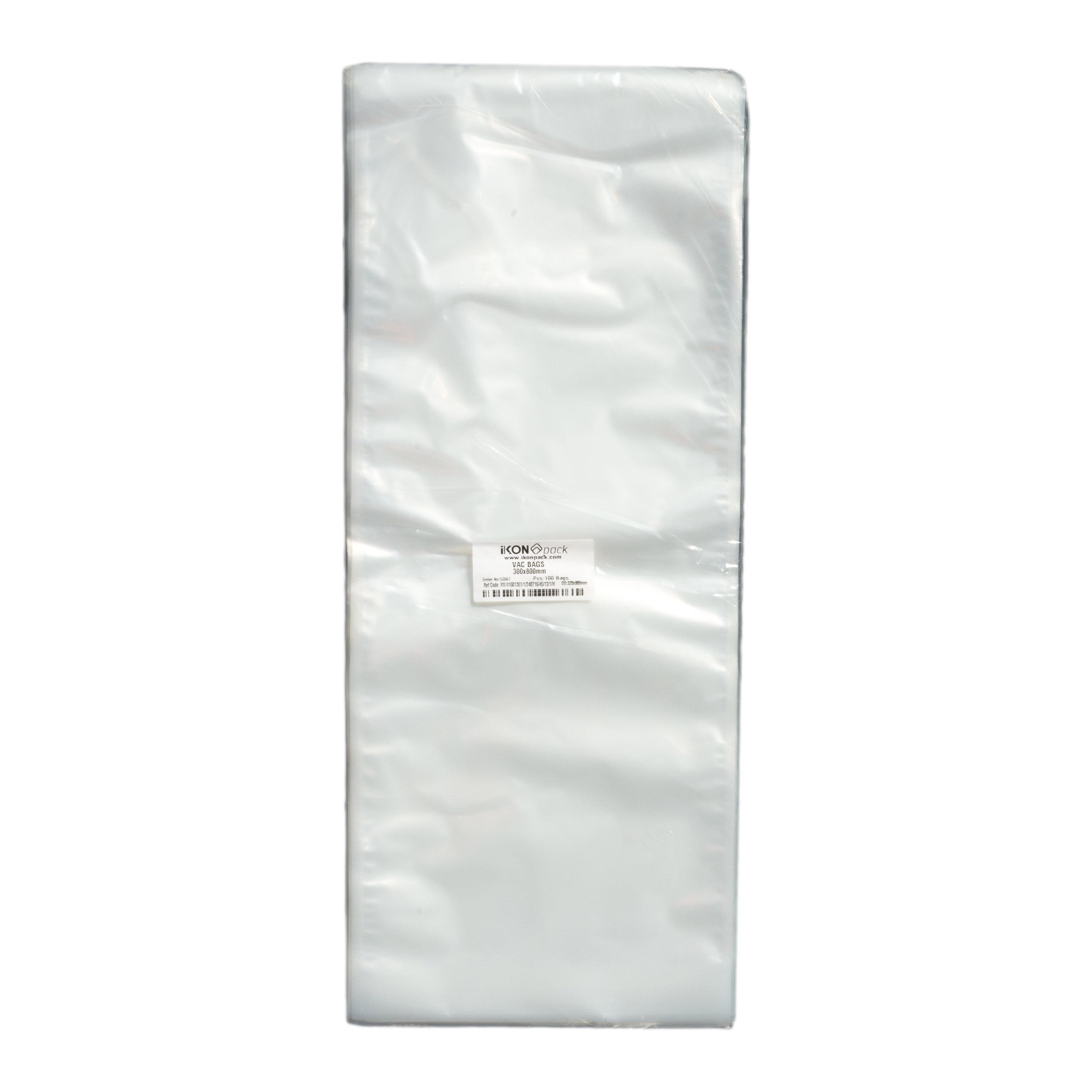 iK-VAC3080      VACUUM POUCH 70 MICRON 300X800    100 per slv 500 per carton