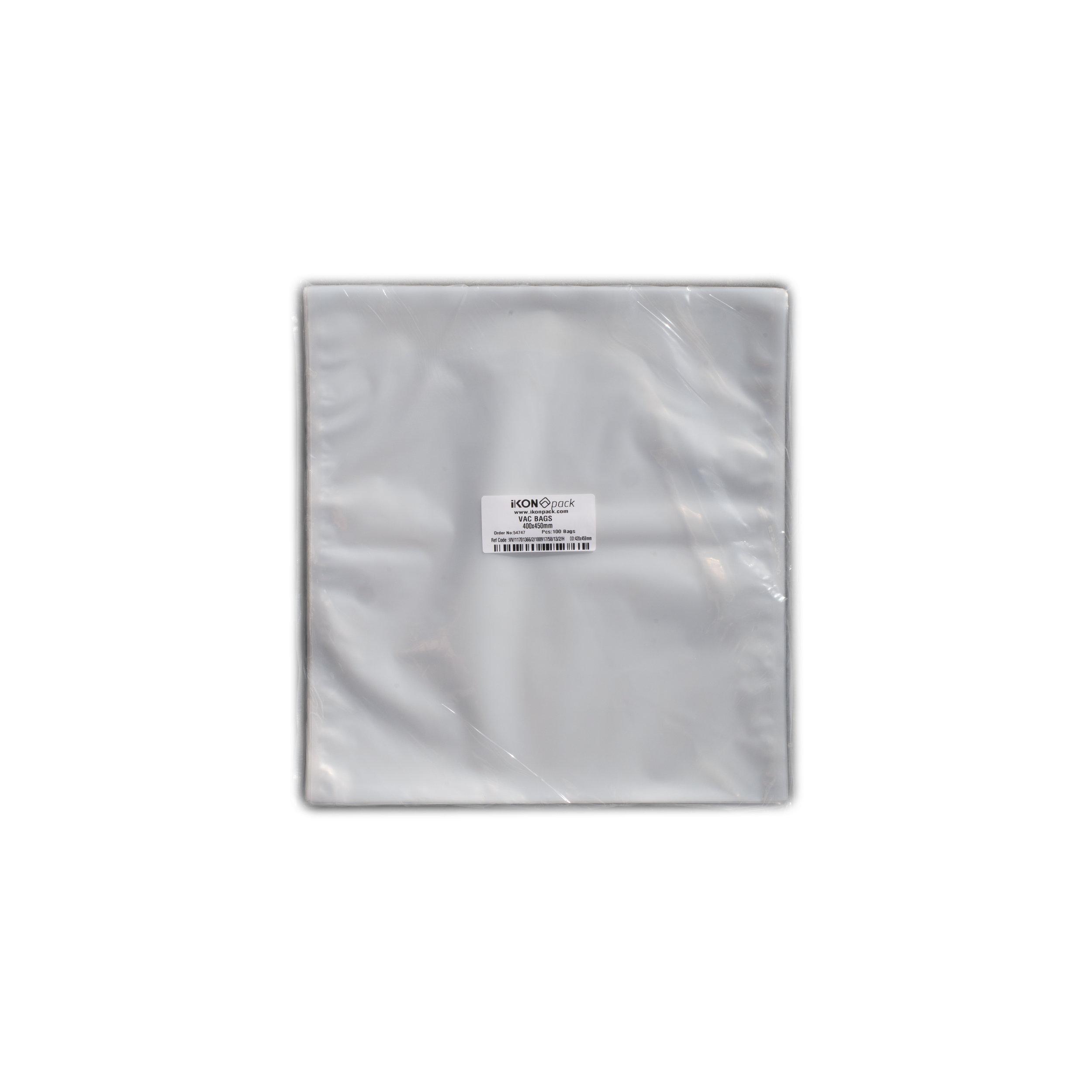 iK-VAC4045      VACUUM POUCH 70 MICRON 400X450    100 per slv 500 per carton