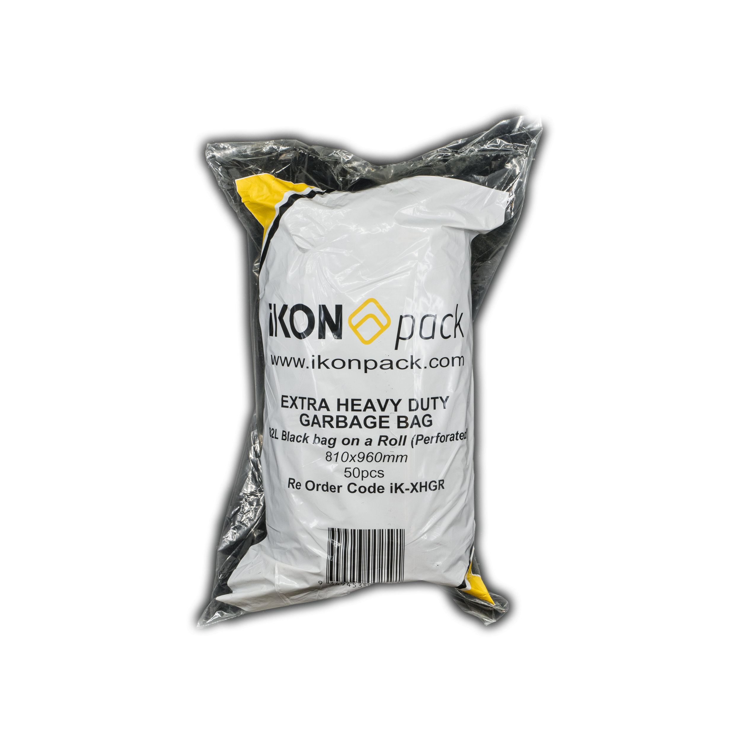 iK-XHGR Garbage Bags Extra Heavy Duty   82L Garbage Bags 810 x 960mm (perforated) on a roll  50 pc 4 per carton
