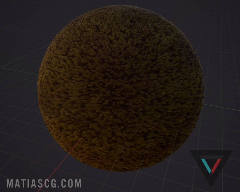 Moss shader will slice a height map into 8 slices and pan them individually to fake depth, currently uses 4 height maps packed into RGBA to help create variation between layers.
