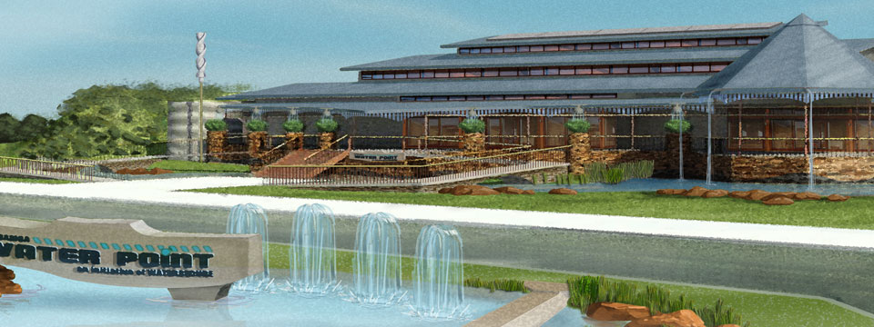 Artist concept of the Water Centre.