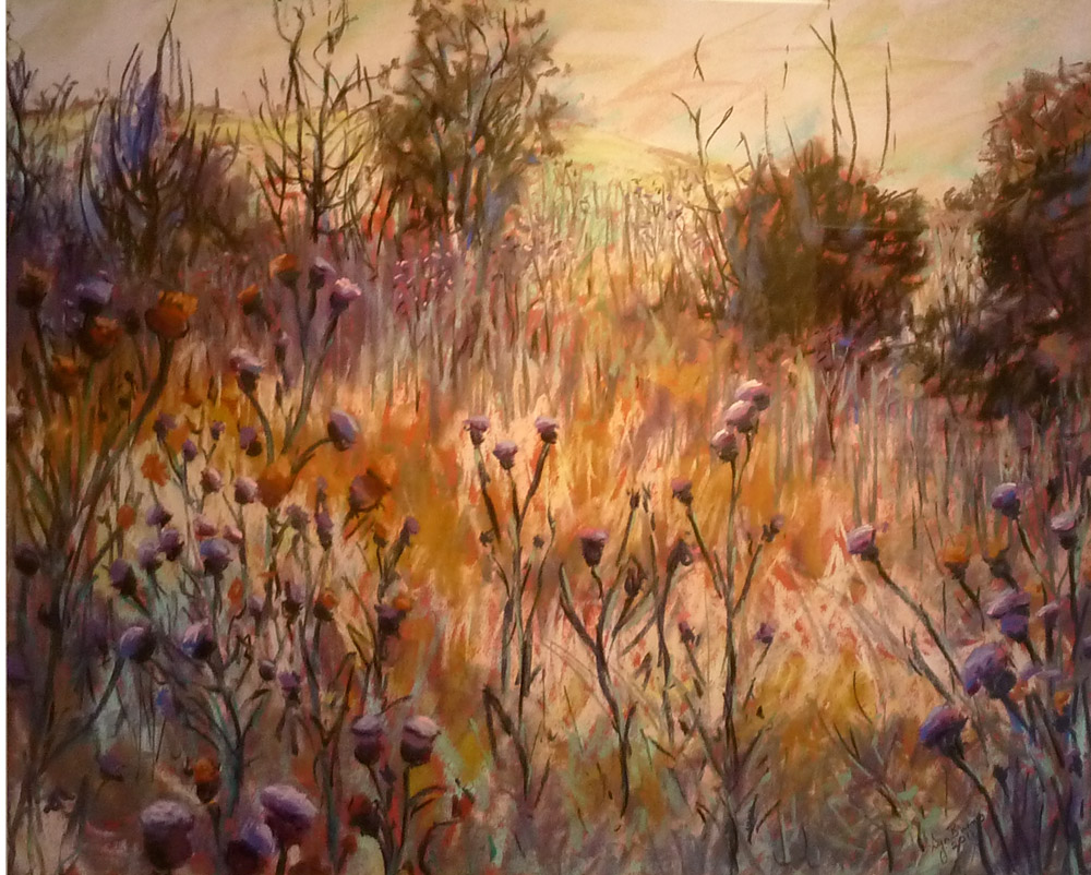 2011 LLOYD REES WINNER 'Thistlescape' by Lyn Burns