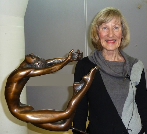 Tuesday 28 May 2013   Helen Leete, winner of the 2003 Sculpture by the Sea, inspired us with her many graceful bronze sculptures.