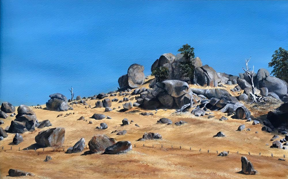 "2018 LLOYD REES WINNER  ""Granite Country"" BY Chrissie Lloyd"