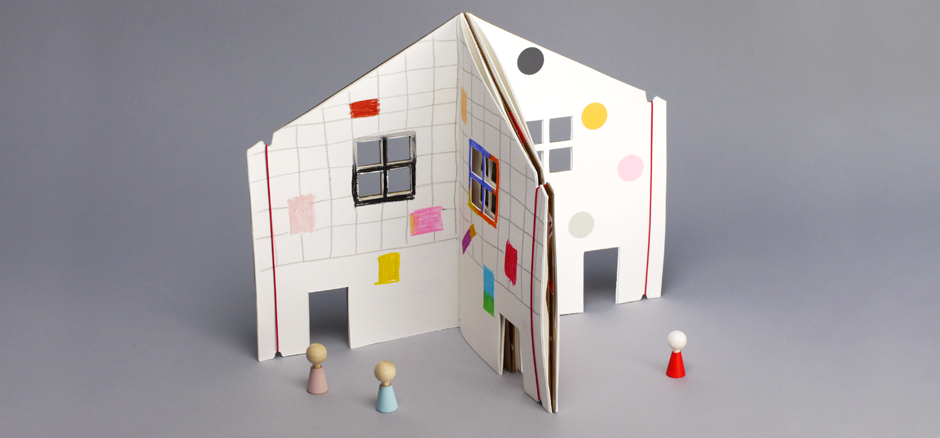 You can even connect 2 – 4 books to create a big house with multiple rooms.  Friends and siblings can have so much fun drawing their own rooms, connecting them together and inviting everyone in to play in their special houses.