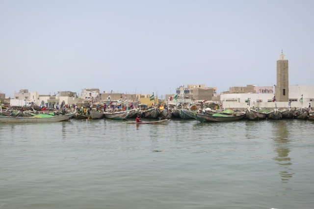 Fishermen village across from Saint Louis island.