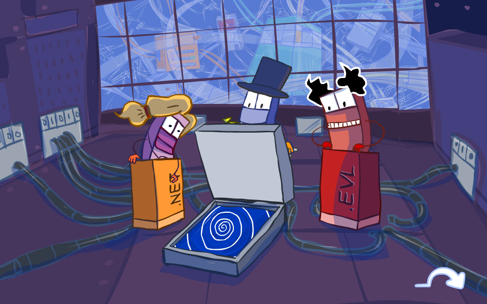 We consulted the design of the learning game Internet Hero (University of Vienna, Entertainment Computing), in which the player is transported into a fictional world representing the Internet. The game shall convey learning contents about the technical and social basics of using the Internet.    The game can be played at   http://www.internet-hero.at