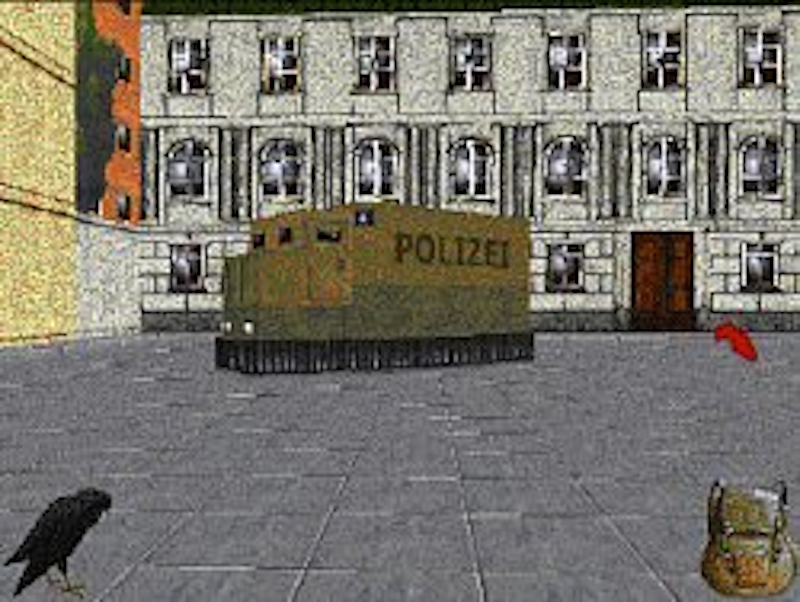 »Der Name des Bruders« (the brother's name) was a political game using a socioeconomic simulation as the foundation. in the game, the player tries to topple afascisticoppressive government by non-violent means. The game was developed by a group of students in 1998 as a reaction to the media hype generated around primitive nazi computer games.