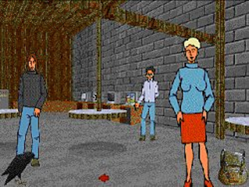 »Der Name des Bruders« (the brother's name) was a political game using a socioeconomic simulation as the foundation. in the game, the player tries to topple a fascistic oppressive government by non-violent means. The game was developed by a group of students in 1998 as a reaction to the media hype generated around primitive nazi computer games.