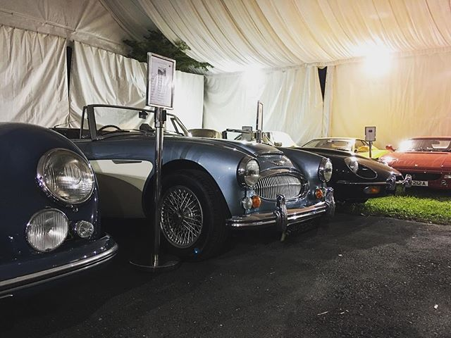 Just put these babies to bed for the night and I can't feel my legs! What an amazing turn out tonight! Thank you for the support!! 🙌🏻🙏🏻 See you tomorrow - there from 11am - 6pm! #lxgclassiccars #lxg #luxglove #dempsey #classiccars #carnuts @asiatiquecollections #AutoInc @autoinceurosports @stanleygibbons @watchesbysjx @christiesinc @theb28whiskyfund @wall.street.journal @conchaytoro @senatusnet