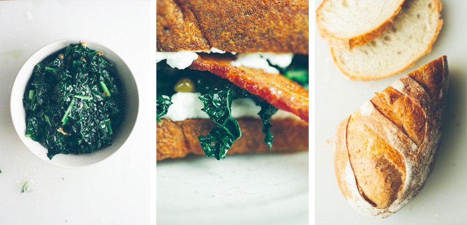 Bacon Kale & Ricotta Sandwich