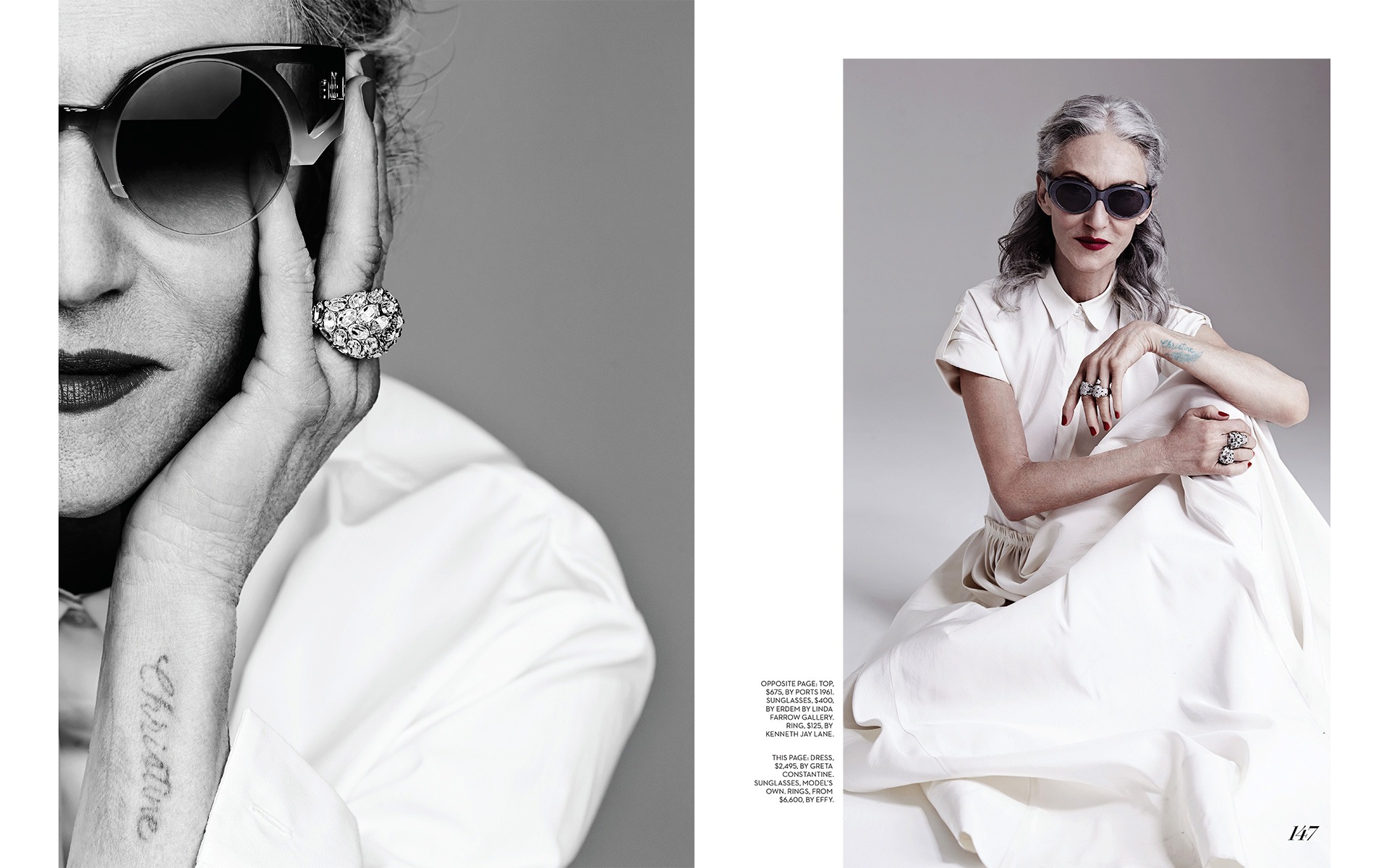 Linda Rodin by Garbor Jurina for Fashion magazine (Canada) May 2014