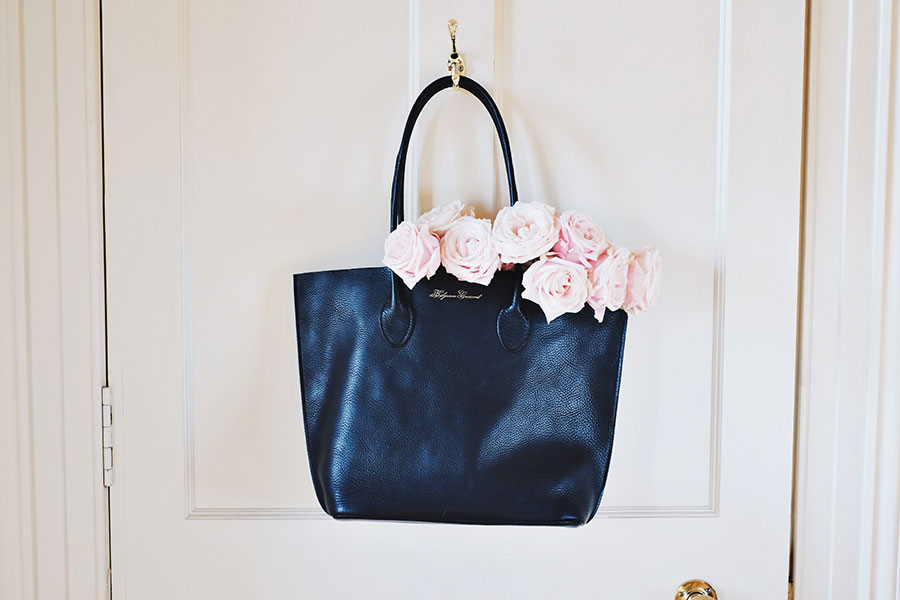 """""""I don't dream at night, I dream all day, I dream for a living."""" --Steven Spielberg  The Tuscany Tote in Midnight  + shop here"""