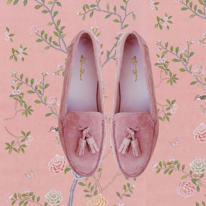 Featured this Week: The Parisian Skies Tassel Loafer in Pink Suede
