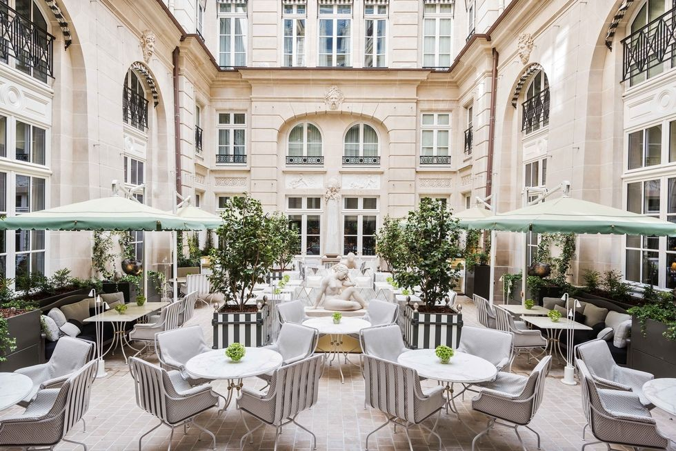 """After an extensive four-year renovation, the  Hôtel de Crillon in Paris finally reopened about a month ago.Designer Karl Lagerfeld decorated two suites in the hotel, known as """"Les Grands Appartements"""".The hotel, located near the Champs-Élysées has 78 room, 36 suites, 10 Signature Suites, a gastronomic restaurant, brasserie, bar, spa, hair salon, and barber shop. With a history dating to the 18th century, the property was commissioned by King Louis XV in 1758 and later served as the personal residence of the family of the Count of Crillon before becoming a palace hotel in 1909.It occupies three buildings on the Place de La Concorde."""