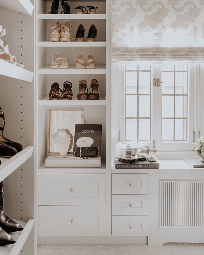 Organise | A Beautiful Walk-In Closet in Pelham, New York by Rajni Alex Design