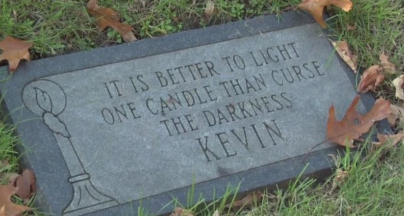 Epitaph from Kevin Kane's gravesite marker