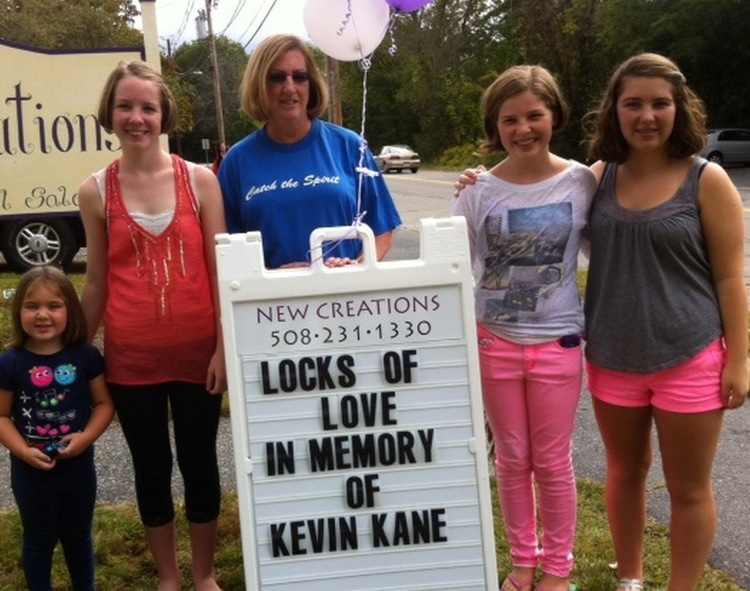ASHLAND 2013 - Kevin's sister and nieces honor him by donating 55 inches hair to Locks For Love.