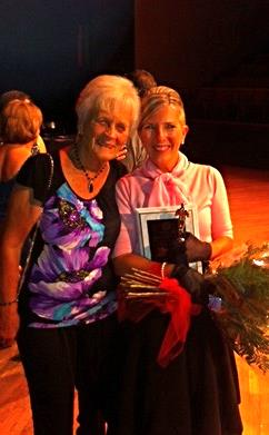 2013 Dancing With The Brookline Stars: Lisa Kane Wisel shown here with her mother.  As part of Lisa's prize, an $11,700 donation was made to the Kevin Kane Memorial Fund.