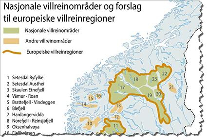 Forollhogna blir ett av seks områder i den nordlige regionen. Dette vil bety mye.