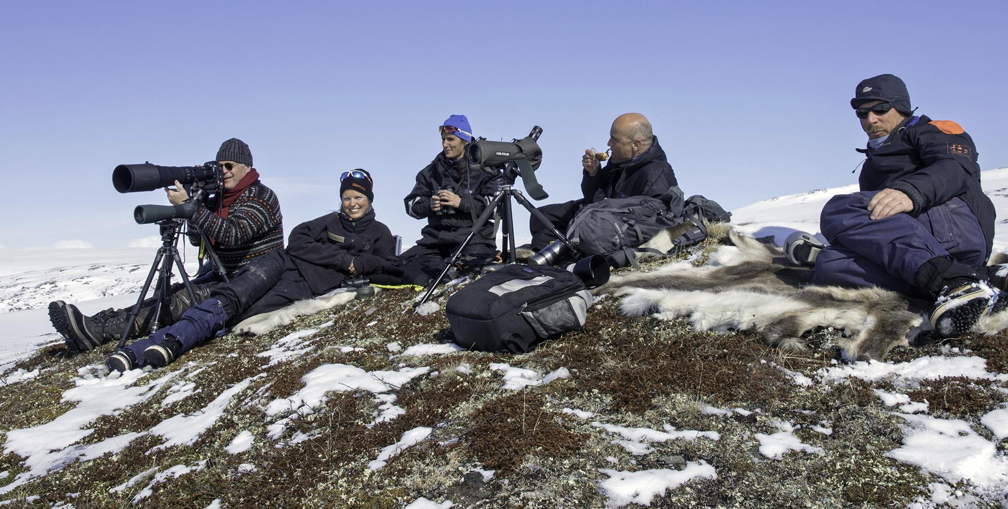 Fra venstre: Olav Strand, Norsk institutt for naturforskning (NINA), Kristin Lund Austvik, Kvikne Utmarksråd, Berit Broen, SNO, Erik M. Ydse, SNO og Ingebrigt Storli, Kvikne Utmarksråd.