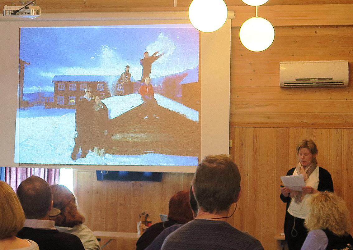 Noen satser for fullt på det lokale. Ingrid Vingelsgaard orienterte om familiebedriften   Vingelsgaard Gjestgiveri  .