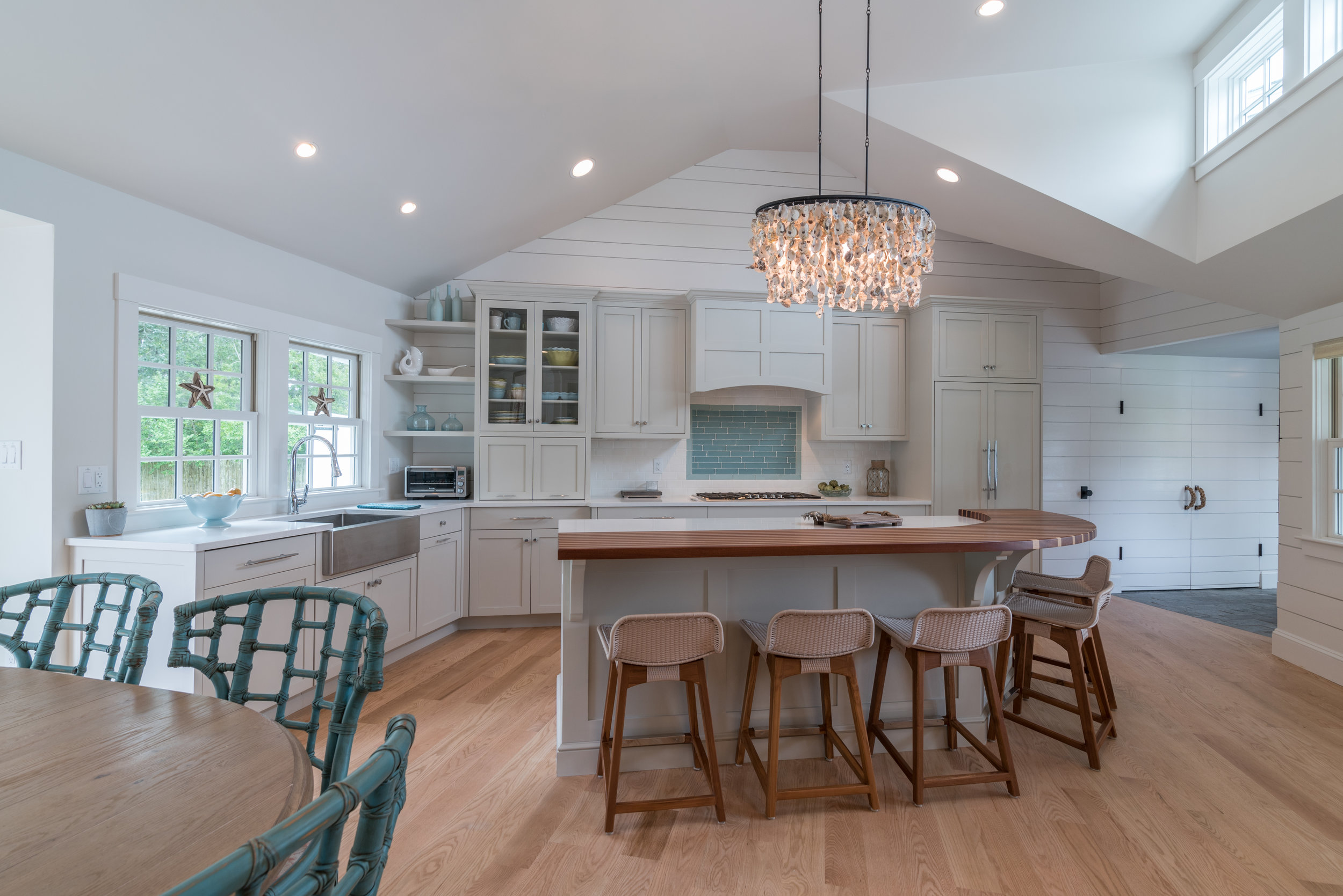 Kitchen renovation on the Cape. Family's summer home.