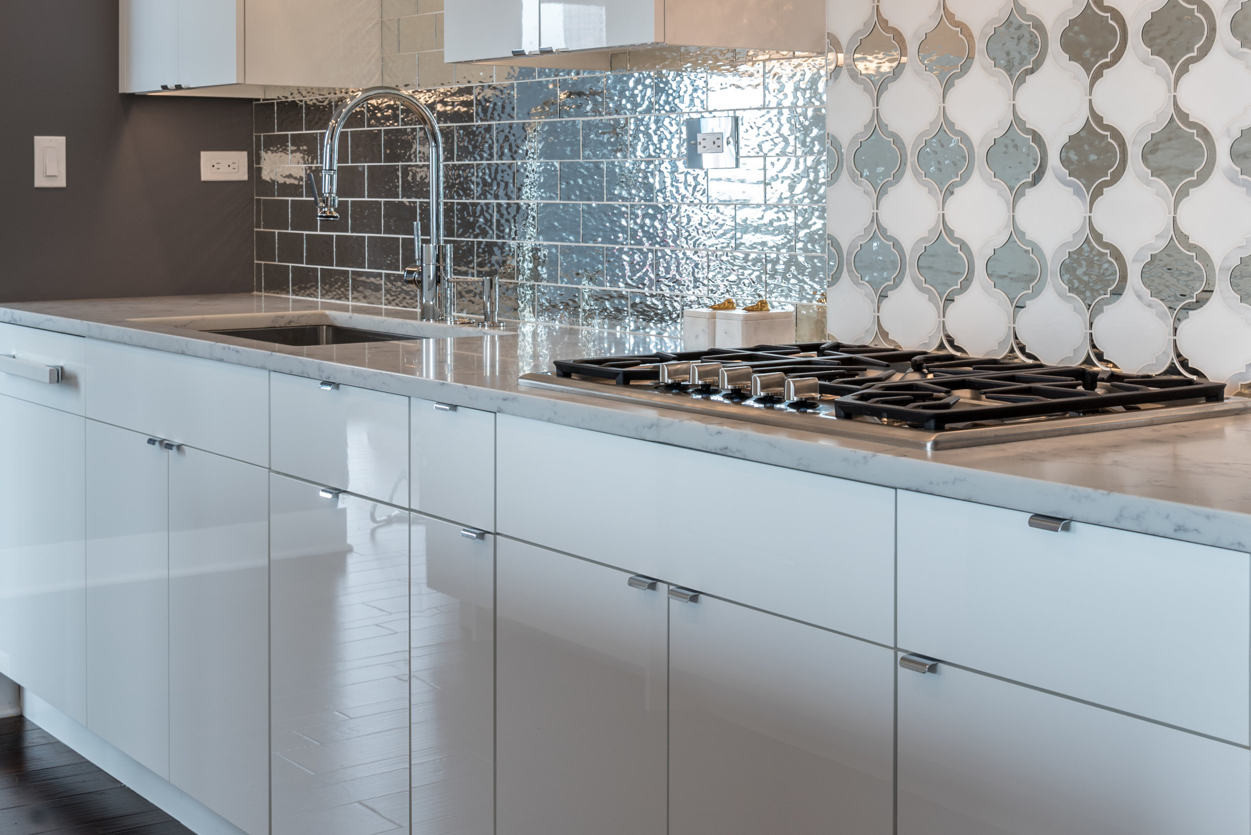 Contemporary Kitchen and bath renovation in Boston. South End.