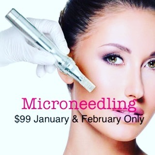 Regularly $125 per session. Book your appointment for January or February to save! #microneedling #cit #collagen #elastin #collageninductiontherapy #esthetician