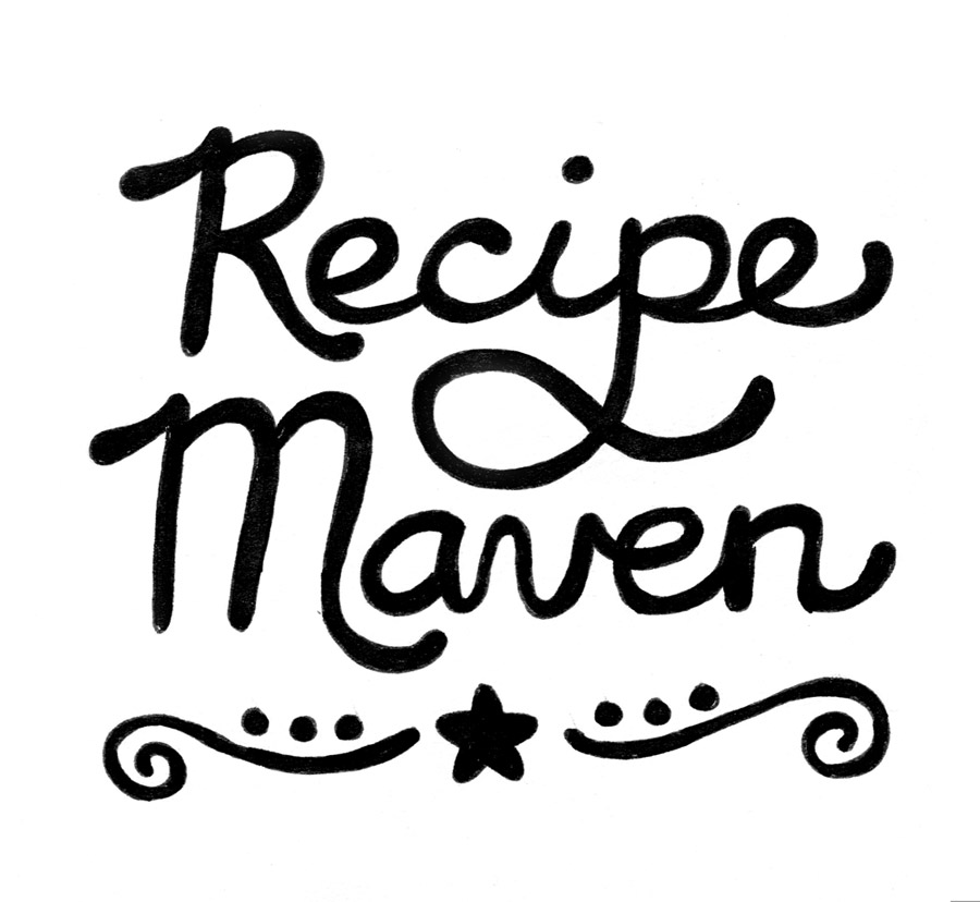 recipe maven typography by Shannon McNab