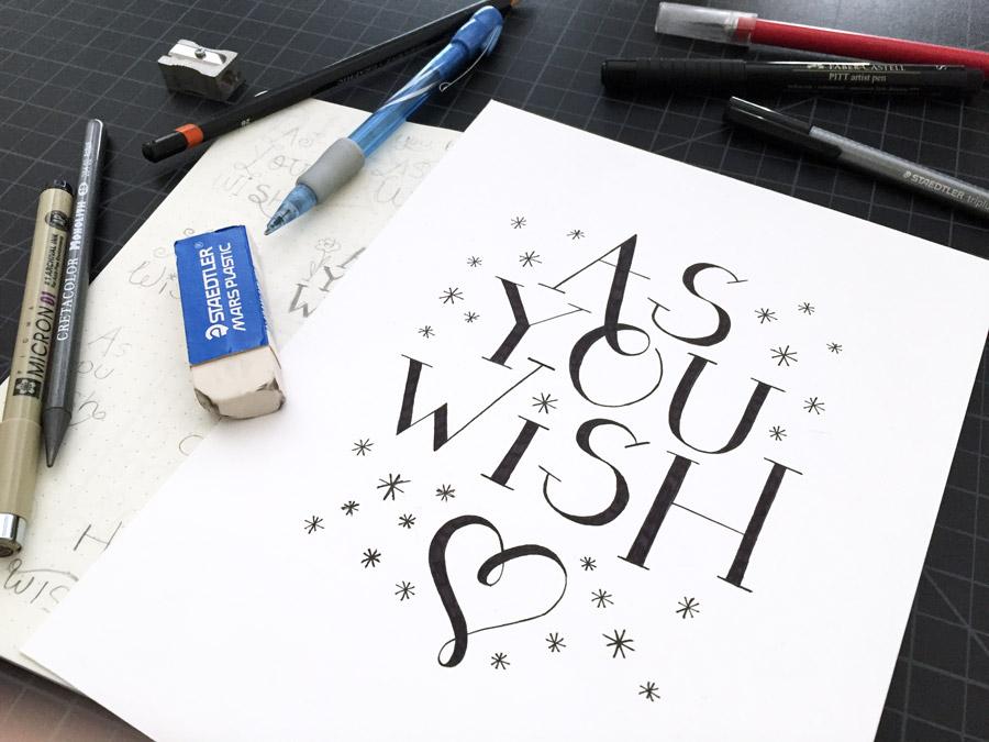 Practicing my hand lettering skills | shannonmcnab.com