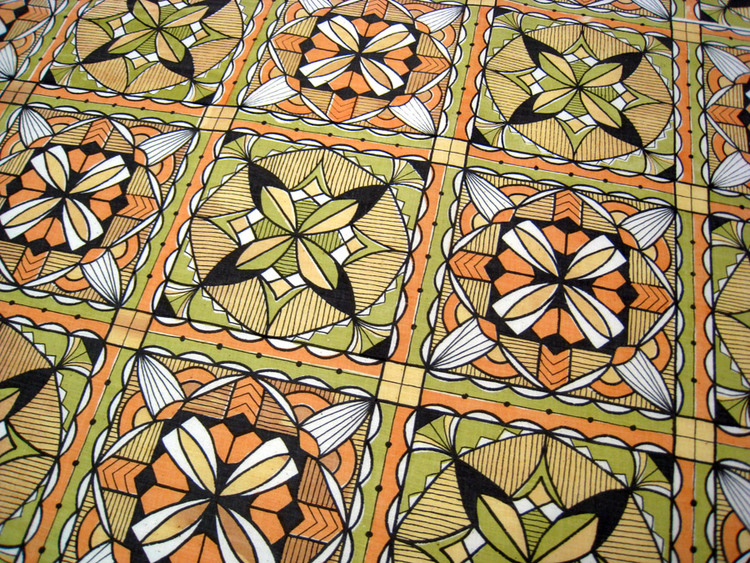 "Nani-Kapa: Meaning ""beautiful cloth"" - it was my favorite pattern I designed during graduate school. It's inspired by traditional hand-painted tapa cloth."