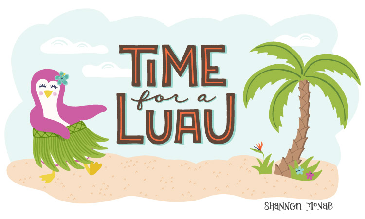 """Time for a Luau"" Illustration from my Birds of Paradise collection 