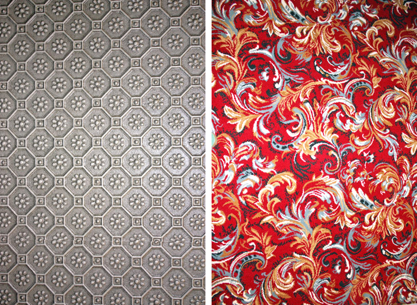 Patterns found at the Muppets 3D Theater in Disney's California Adventure