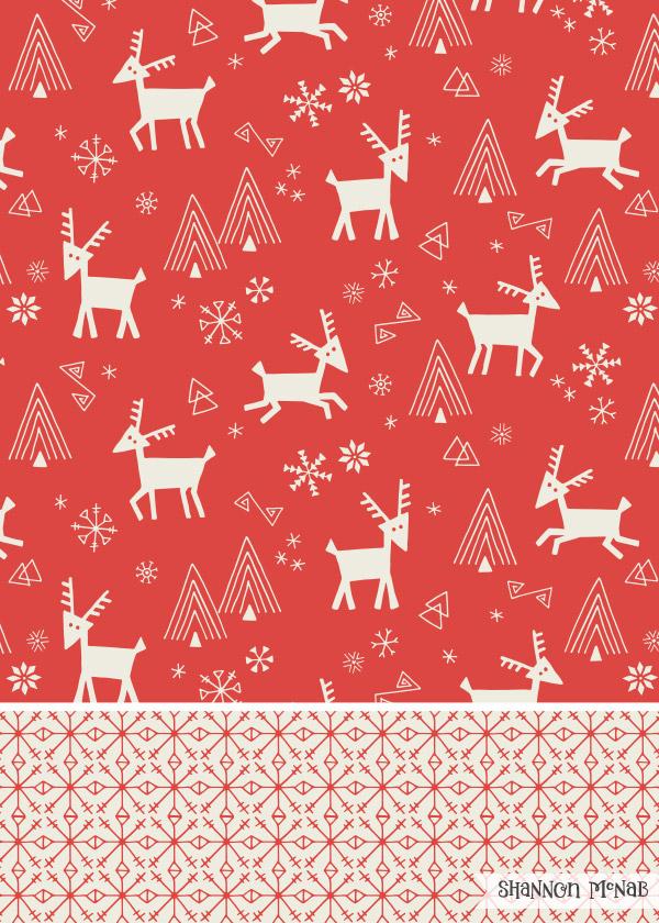 Scandi Reindeer surface pattern designs |  ©2016  Shannon McNab