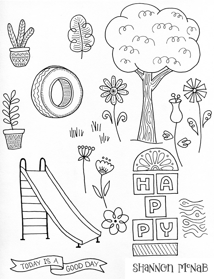 Sketches for Hopscotch Value Kit for Becky Higgins designed by Shannon McNab