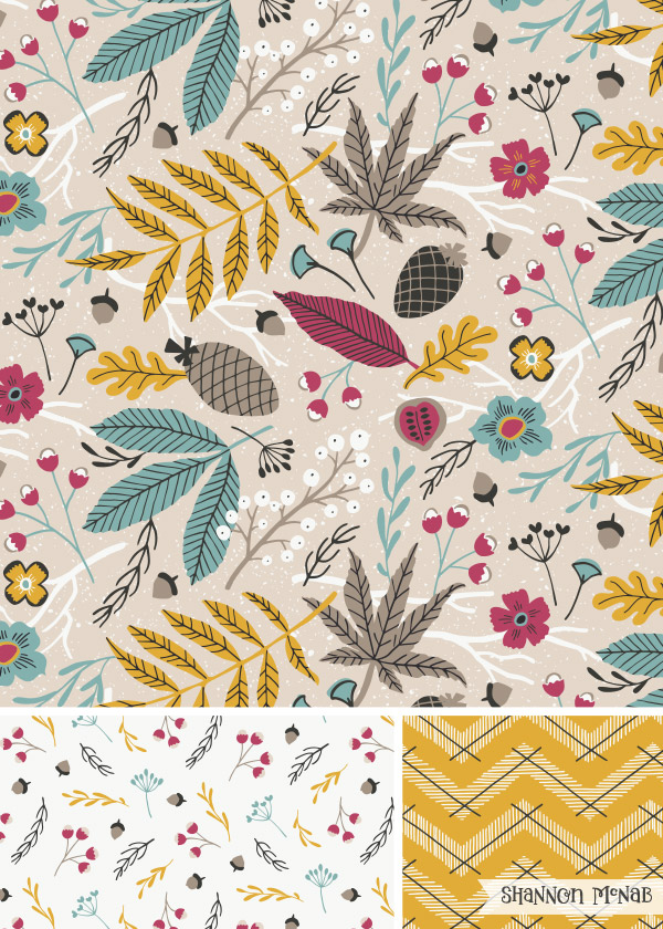 Forest Floor surface design collection | ©2017 Shannon McNab