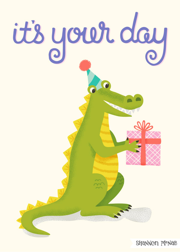 Party animals greeting card design | ©2017 Shannon McNab